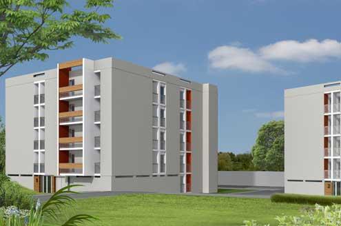 Retraitement architectural et polychromie de 2 résidences à Epernay